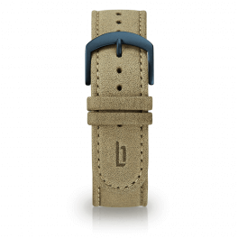 Leather strap - khaki-blue