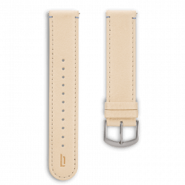 Leather strap - creme-silver