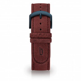 Leather strap - amarena-blue