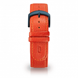 Leather strap - flame-blue