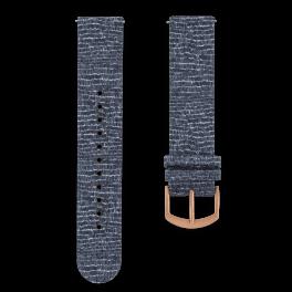 Fabric leather strap - cobblestones-rosegold