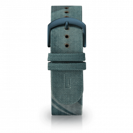 Fabric leather strap - city park-blue-short