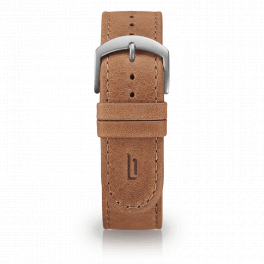 Leather strap - light-brown-silver