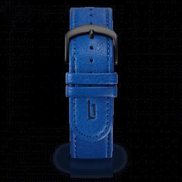 Leather strap - lapis-black