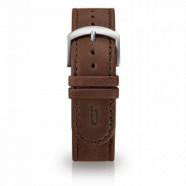 Leather strap - brown-silver