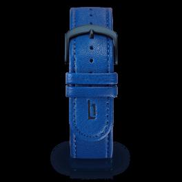 Leather strap - lapis-blue