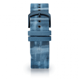 Fabric leather strap - riverside-blue-short