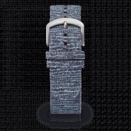 Fabric leather strap - cobblestones-silver