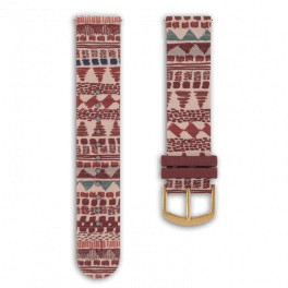 Fabric leather strap - festival-gold