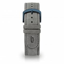 Leather strap - grey-blue