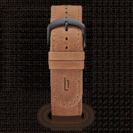 Leather strap - light-brown-black