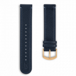 Leather strap - blue-gold