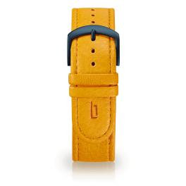 Leather strap - mango-tango-blue
