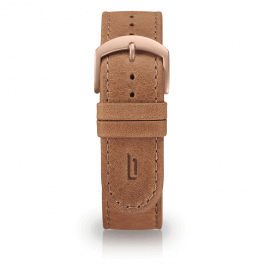 Leather strap - light-brown-rosegold