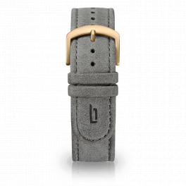 Leather strap - grey-gold