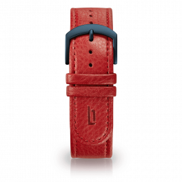 Leather strap - red-blue