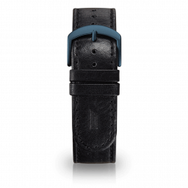 Leather strap - black-blue