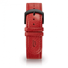 Leather strap - red-black