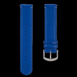 Leather strap - lapis-silver