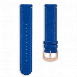 Leather strap - lapis-rosegold