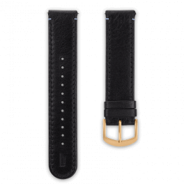 Leather strap - black-gold