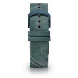Fabric leather strap - city park-blue